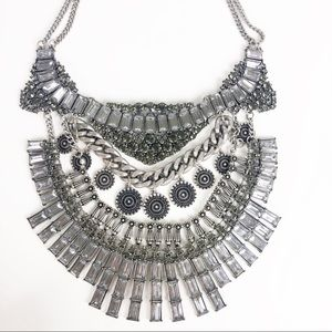 Express Silver Statement Necklace